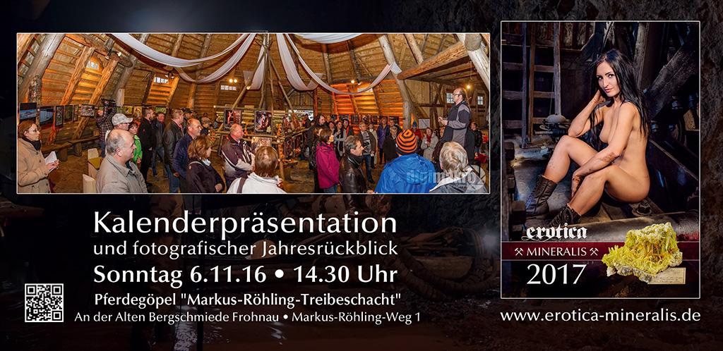 Kalenderpräsentation Erotica-Mineralis 2017 - Bergschmiede Frohnau